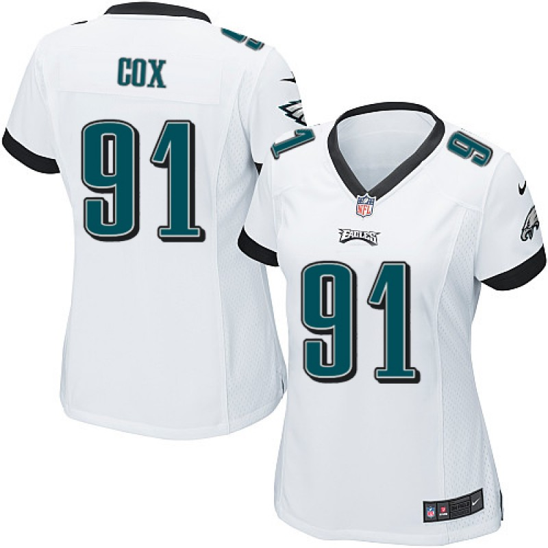 huge discount 95d46 38a3b Women's Nike Philadelphia Eagles Fletcher Cox White Jersey - Game