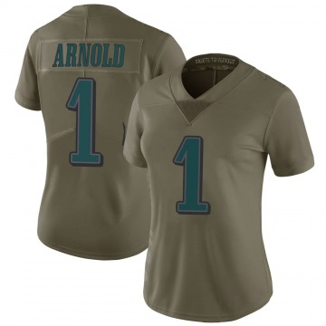Women's Nike Philadelphia Eagles Grayland Arnold Green 2017 Salute to Service Jersey - Limited