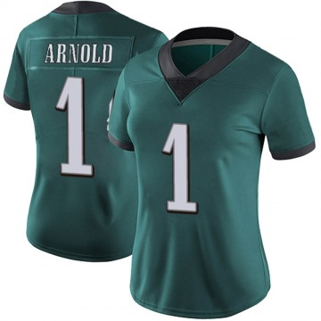 Women's Nike Philadelphia Eagles Grayland Arnold Green Midnight 100th Vapor Jersey - Limited