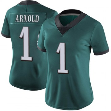 Women's Nike Philadelphia Eagles Grayland Arnold Green Midnight Team Color Vapor Untouchable Jersey - Limited