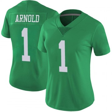 Women's Nike Philadelphia Eagles Grayland Arnold Green Vapor Untouchable Jersey - Limited