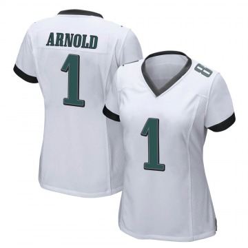 Women's Nike Philadelphia Eagles Grayland Arnold White Jersey - Game