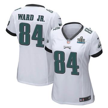 Women's Nike Philadelphia Eagles Greg Ward Jr. White Super Bowl LII Jersey - Game