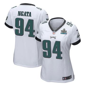 Women's Nike Philadelphia Eagles Haloti Ngata White Super Bowl LII Jersey - Game