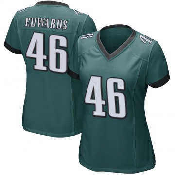Women's Nike Philadelphia Eagles Herman Edwards Green Team Color Jersey - Game