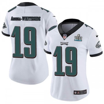 Women's Nike Philadelphia Eagles JJ Arcega-Whiteside White Super Bowl LII Vapor Untouchable Jersey - Limited