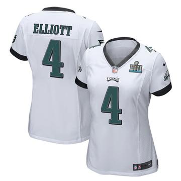 Women's Nike Philadelphia Eagles Jake Elliott White Super Bowl LII Jersey - Game