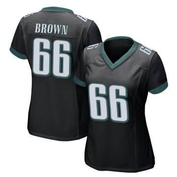 Women's Nike Philadelphia Eagles Jamon Brown Black Alternate Jersey - Game
