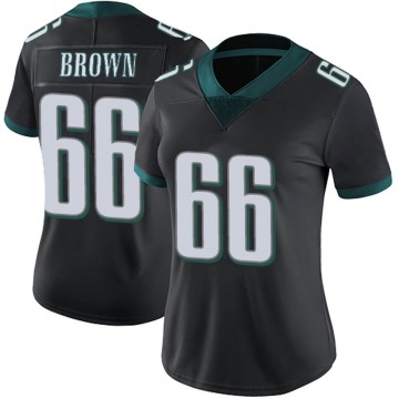 Women's Nike Philadelphia Eagles Jamon Brown Black Alternate Vapor Untouchable Jersey - Limited