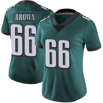 Women's Nike Philadelphia Eagles Jamon Brown Green Midnight 100th Vapor Jersey - Limited