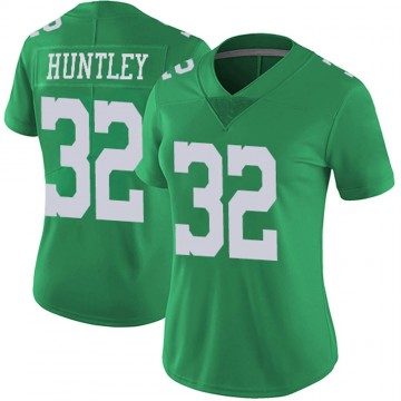 Women's Nike Philadelphia Eagles Jason Huntley Green Vapor Untouchable Jersey - Limited