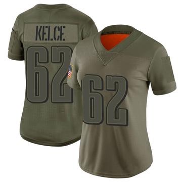 Women's Nike Philadelphia Eagles Jason Kelce Camo 2019 Salute to Service Jersey - Limited
