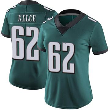 Women's Nike Philadelphia Eagles Jason Kelce Green Midnight 100th Vapor Jersey - Limited