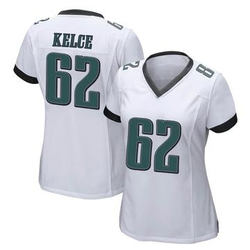 Women's Nike Philadelphia Eagles Jason Kelce White Jersey - Game