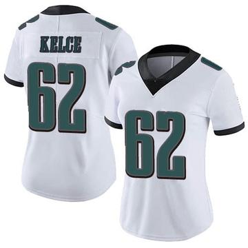 Women's Nike Philadelphia Eagles Jason Kelce White Vapor Untouchable Jersey - Limited
