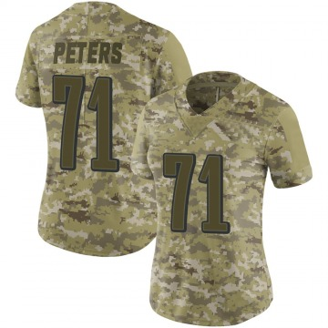 Women's Nike Philadelphia Eagles Jason Peters Camo 2018 Salute to Service Jersey - Limited