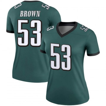 Women's Nike Philadelphia Eagles Jatavis Brown Green Jersey - Legend