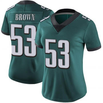 Women's Nike Philadelphia Eagles Jatavis Brown Green Midnight 100th Vapor Jersey - Limited