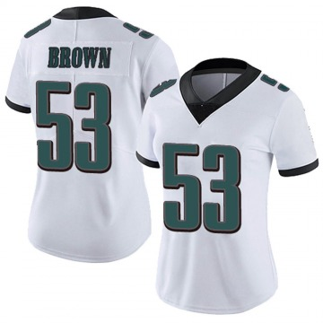 Women's Nike Philadelphia Eagles Jatavis Brown White Vapor Untouchable Jersey - Limited