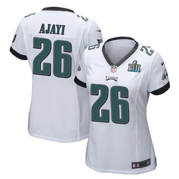 Women's Nike Philadelphia Eagles Jay Ajayi White Super Bowl LII Jersey - Game