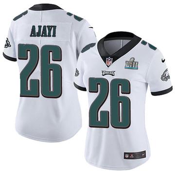 Women's Nike Philadelphia Eagles Jay Ajayi White Super Bowl LII Vapor Untouchable Jersey - Limited