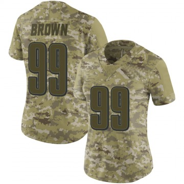 Women's Nike Philadelphia Eagles Jerome Brown Brown Camo 2018 Salute to Service Jersey - Limited