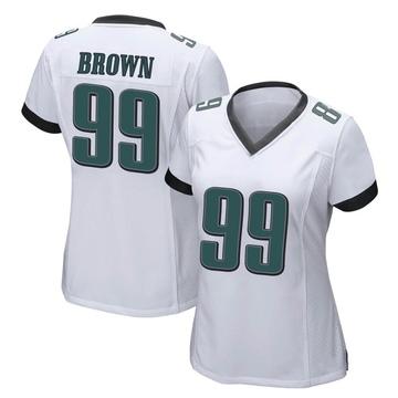 Women's Nike Philadelphia Eagles Jerome Brown White Jersey - Game
