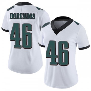 Women's Nike Philadelphia Eagles Jon Dorenbos White Vapor Untouchable Jersey - Limited