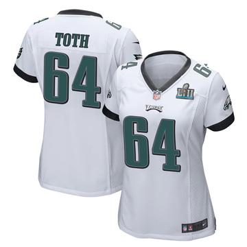 Women's Nike Philadelphia Eagles Jon Toth White Super Bowl LII Jersey - Game