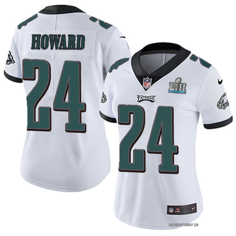san francisco fe6af 4a4b0 Women's Nike Philadelphia Eagles Jordan Howard White Super Bowl LII Vapor  Untouchable Jersey - Limited