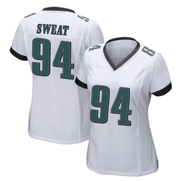 Women's Nike Philadelphia Eagles Josh Sweat White Jersey - Game