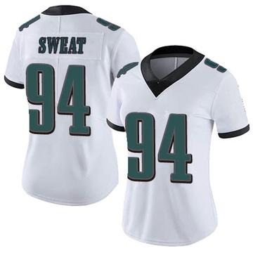 Women's Nike Philadelphia Eagles Josh Sweat White Vapor Untouchable Jersey - Limited
