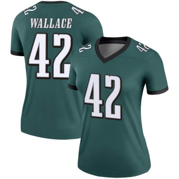 Women's Nike Philadelphia Eagles K'Von Wallace Green Jersey - Legend