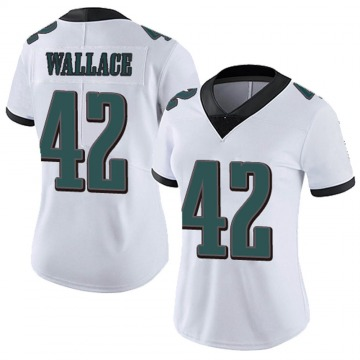Women's Nike Philadelphia Eagles K'Von Wallace White Vapor Untouchable Jersey - Limited