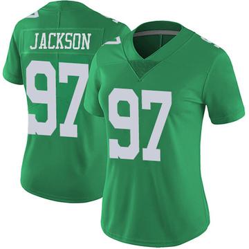Women's Nike Philadelphia Eagles Malik Jackson Green Vapor Untouchable Jersey - Limited