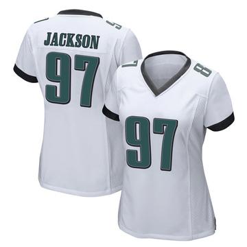 Women's Nike Philadelphia Eagles Malik Jackson White Jersey - Game
