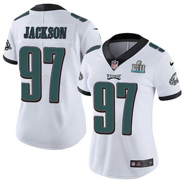 Women's Nike Philadelphia Eagles Malik Jackson White Super Bowl LII Vapor Untouchable Jersey - Limited