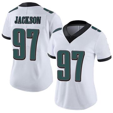 Women's Nike Philadelphia Eagles Malik Jackson White Vapor Untouchable Jersey - Limited