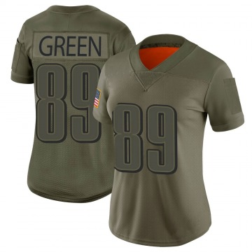 Women's Nike Philadelphia Eagles Marcus Green Green Camo 2019 Salute to Service Jersey - Limited