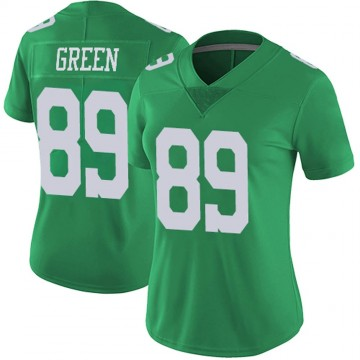 Women's Nike Philadelphia Eagles Marcus Green Green Vapor Untouchable Jersey - Limited