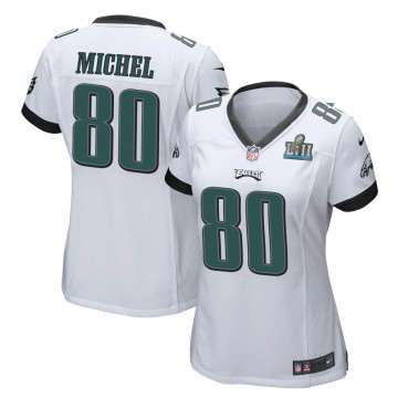 Women's Nike Philadelphia Eagles Marken Michel White Super Bowl LII Jersey - Game