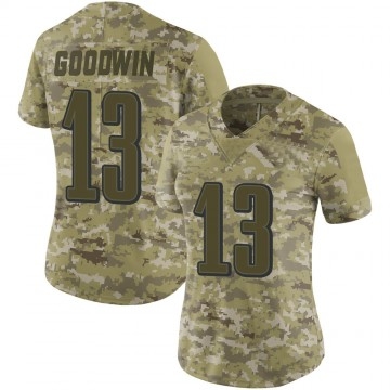 Women's Nike Philadelphia Eagles Marquise Goodwin Camo 2018 Salute to Service Jersey - Limited