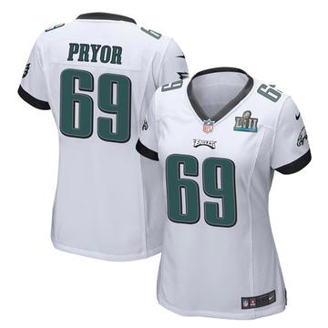 Women's Nike Philadelphia Eagles Matt Pryor White Super Bowl LII Jersey - Game