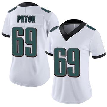 Women's Nike Philadelphia Eagles Matt Pryor White Vapor Untouchable Jersey - Limited