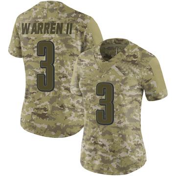 Women's Nike Philadelphia Eagles Michael Warren II Camo 2018 Salute to Service Jersey - Limited