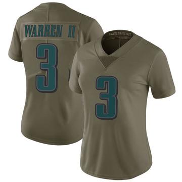 Women's Nike Philadelphia Eagles Michael Warren II Green 2017 Salute to Service Jersey - Limited