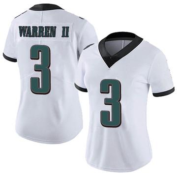 Women's Nike Philadelphia Eagles Michael Warren II White Vapor Untouchable Jersey - Limited