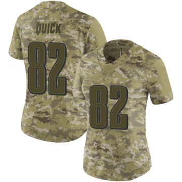 Women's Nike Philadelphia Eagles Mike Quick Camo 2018 Salute to Service Jersey - Limited