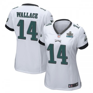 Women's Nike Philadelphia Eagles Mike Wallace White Super Bowl LII Jersey - Game