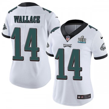 Women's Nike Philadelphia Eagles Mike Wallace White Super Bowl LII Vapor Untouchable Jersey - Limited
